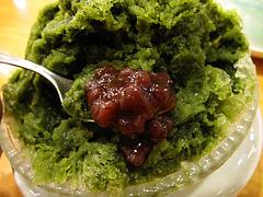 カフェ:宇治金時かき氷あんこ@蜂楽饅頭・西新
