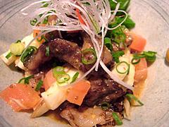 牛すじ肉のからしポン酢480円店内@雄屋 わさび