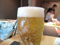 3鉄板焼店:生ビール@お好み焼きダイニング城・中洲川端