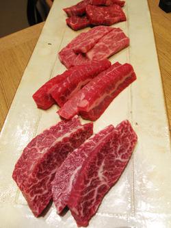 4赤身肉盛り合わせ@力飯店