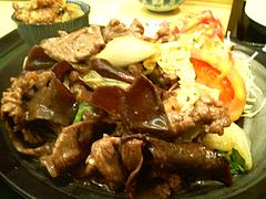 料理:牛肉と白菜の甘辛炒め@吾木香・舞鶴
