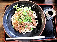 ランチ:肉ぶっかけうどん550円@カラフル食堂・住吉店