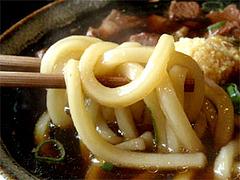 肉肉うどんの麺@元祖肉肉うどん・店屋町店
