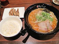 13ランチ:辛味噌豚骨拉麺セット750円@ラーメン・麺やダイニング・こもんど