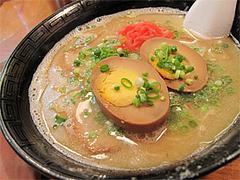 料理:玉子ラーメン600円@博多ラーメンばりこて長浜店