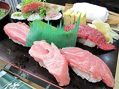 料理:まぐろづくしの寿司1@ランチ・鮨あつ賀