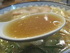 9ランチ:豚骨ラーメンスープ@元祖赤のれん・節ちゃんラーメン・野間店