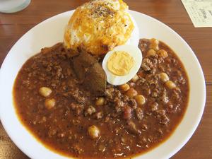 4ひよこ豆のスパイシーラム肉のキーマカリー900円@オカノカリー