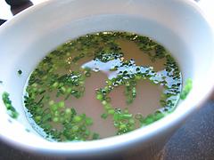 料理:お吸い物のトマト@元祖博多めんたい重・西中洲