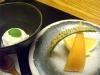 【車海老と鮑の会席】ラムレーズンアイスと季節のフルーツ