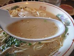 料理:ラーメンスープ@嘘の三八・ベイサイドプレイス博多