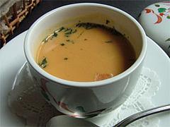 クリームスープ@茶の華庵のランチ