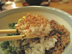 10ランチ:鶏そぼろ丼@居酒屋・井戸端・博多川端商店街