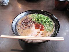 ランチ:白豚骨ラーメン500円@拉麺・空海・那珂川本店