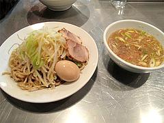 料理:つけ麺700円(野菜普通)+味付玉子70円@らーめん大・福岡・大橋