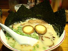 煮卵のりラーメン600円@らあめん坊主・長浜