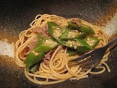料理:牛肉&オクラの和風パスタ@Second New York(セカンドニューヨーク)・北九州小倉