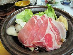 12宴会:温物 鹿児島産黒豚のすき焼き@観山荘別館・小倉・料亭