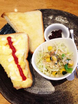 7たまごトーストセット@万丸カフェ