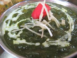 6ほうれん草と豆のカレー@Dカジャナ