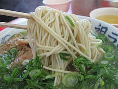 ナシ・ネギ多めの麺@元祖ラーメン長浜家