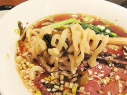 10牛肉入り汁そば麺@翡翠園