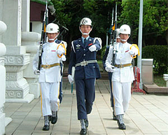 忠烈祠の衛兵交代式@台湾・台北