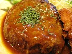 料理:A定食のハンバーグ@ハローコーヒー清水店