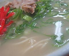 料理:ラーメンのナシスープ@元祖長浜屋