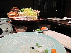 料理:ふぐちりやってきた@一椿・和(なごみ・NAGOMI)・小倉