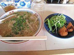 料理:天神屋台の味ラーメンセット680円@豚々拍子・笹丘