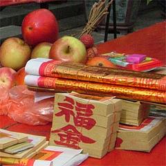 供物@台湾のお寺