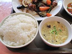 15ランチ:定食のご飯とスープ@点心楼・台北・平尾