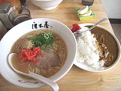 13ランチ:豚骨カレーセット@博多ラーメン・唐木屋・七隈店