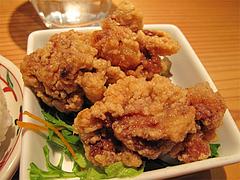 13ランチ:唐揚げ2個@AKAMARU食堂・電気ビル・渡辺通