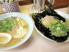 料理:ラーメンと岩海苔ラーメン@福一ラーメン・皿山