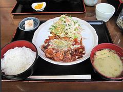 9ランチ:若鶏のトマトチーズ炒め定食600円@一やのごはん・春吉