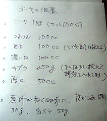 ゴーヤ(苦瓜)の佃煮レシピ