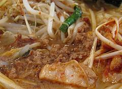料理:江戸前味噌肉ネギらーめん肉味噌@蔵出し味噌・麺場・彰膳・東福岡店