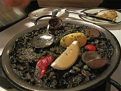 料理:イカスミのパエジャ(2人前〜)3000円@Los Pinchos(ロス ピンチョス)・博多区網場町