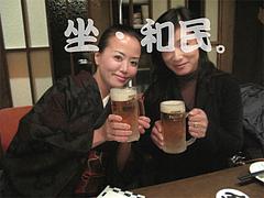 生ビールと記念撮影@和民・大橋
