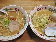 料理:天一のこってりと普通@天下一品・博多駅前店