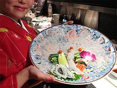 6和食:河豚の菊盛り@英二楼・河豚料理・海鮮居酒屋