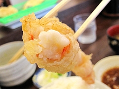 料理:22cm大エビの天ぷら食べる@だるまの天ぷら定食・吉塚本店