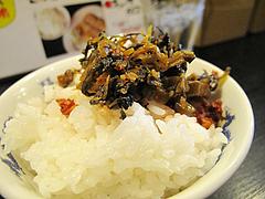 料理:辛子高菜と白ごはん@ラーメン壱屋・六本松