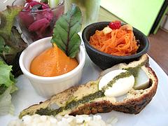 8ランチ:紫キャベツ・ムース・ニンジン・トルティージャ@食堂シェモア・フレンチ・イタリアン・洋食