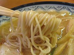 料理:ラーメンの細麺@元祖赤のれん節ちゃんラーメン野間店