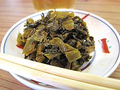 料理:辛子高菜@ラーメン龍の家・春日下白水店