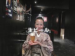 店内:生ビール@白金玄歩・居酒屋・薬院