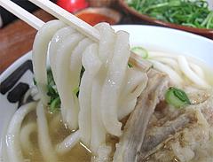 料理:ごぼう天うどん麺@かねいしうどん・博多駅東